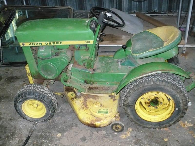 John Deere 110 Garden Tractor Attachments : John deere lawn tractor attachments