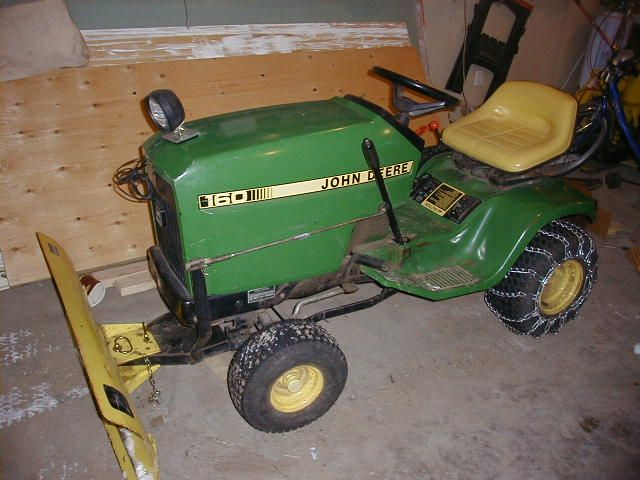 John Deere 160 with snow blade